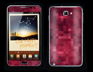 Rosarøde pixler Skin Galaxy Note