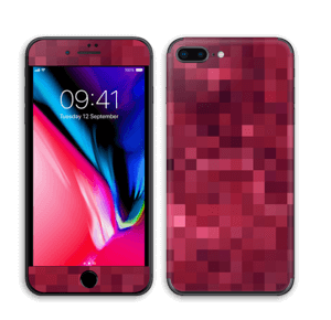 Rosarøde pixler Skin IPhone 8 Plus