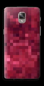 Rosarøde pixler Skin OnePlus 3T