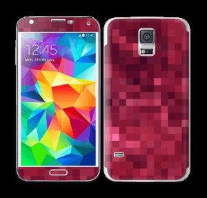 Rosarøde pixler Skin Galaxy S5