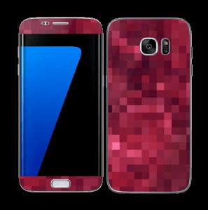 Rosarøde pixler Skin Galaxy S7 Edge