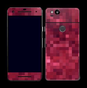 Rosarøde pixler Skin Pixel 2