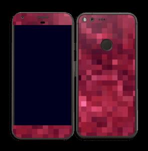 Rosarøde pixler Skin Pixel XL