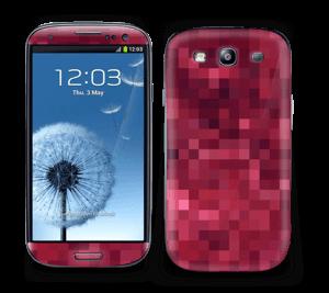 Rosarøde pixler Skin Galaxy S3