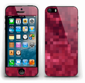 Rosarøde pixler Skin IPhone 5s