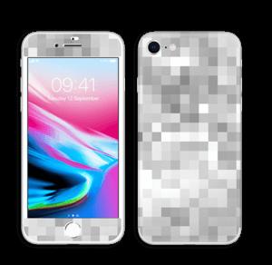 Svart-hvit pixel Skin IPhone 8