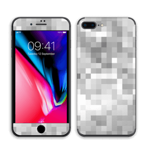 Svart-hvit pixel Skin IPhone 8 Plus