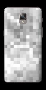 Svart-hvit pixel Skin OnePlus 3T