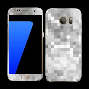 Silver pixels Skin Galaxy S7