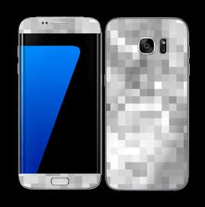 Silver pixels Skin Galaxy S7 Edge