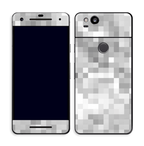 Svart-hvit pixel Skin Pixel 2