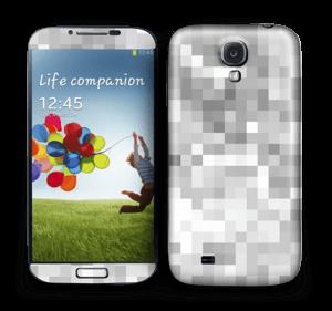 Silver pixels Skin Galaxy S4