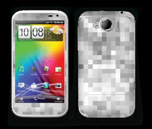 Svart-hvit pixel Skin Sensation XL