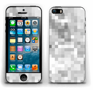 Svart-hvit pixel Skin IPhone 5s