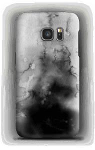 Aquarell Schwarz Handyhülle Galaxy S7