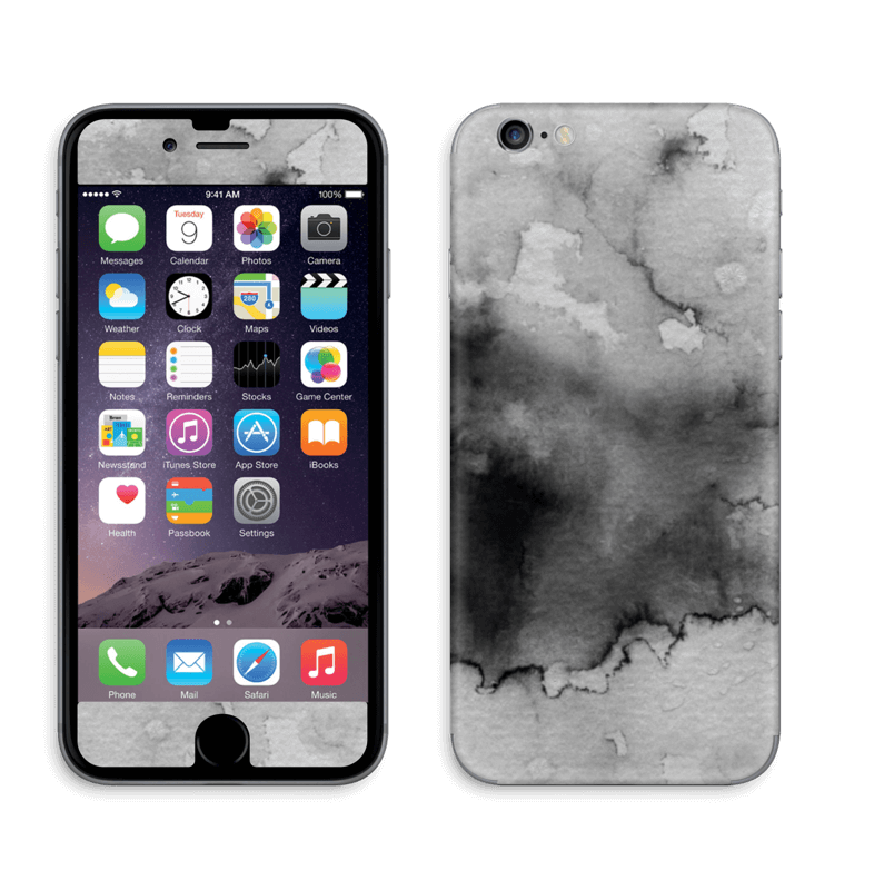Aquarell Schwarz IPhone 6 6s Skin