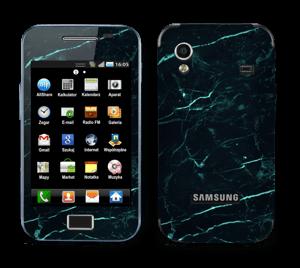 Grønn og svart marmor Skin Galaxy Ace