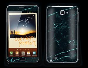 Grønn og svart marmor Skin Galaxy Note