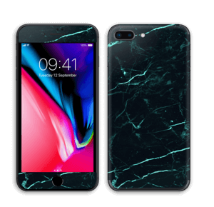 Grønn og svart marmor Skin IPhone 8 Plus