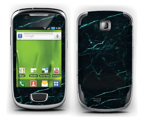 Grønn og svart marmor Skin Galaxy Mini
