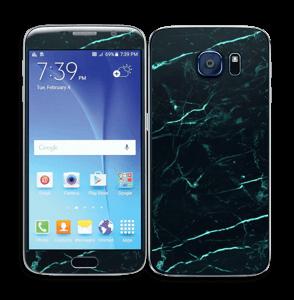 Grønn og svart marmor Skin Galaxy S6