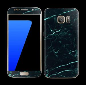 Grønn og svart marmor Skin Galaxy S7