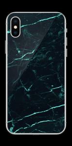 Grønn og svart marmor Skin IPhone X
