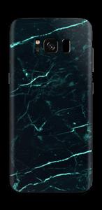 Preto e verde Skin Galaxy S8