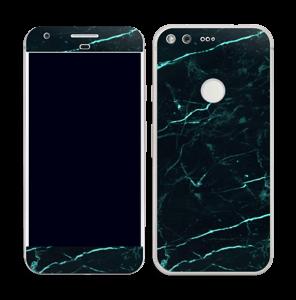 Grønn og svart marmor Skin Pixel