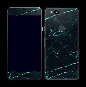 Grønn og svart marmor Skin Pixel 2