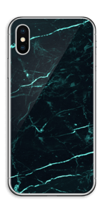 Grønn og svart marmor Skin IPhone XS