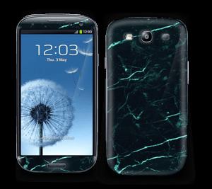 Grønn og svart marmor Skin Galaxy S3