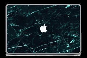 Grønn og svart marmor Skin MacBook Pro 17