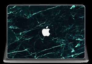 Grønn og svart marmor Skin MacBook Pro Retina 15