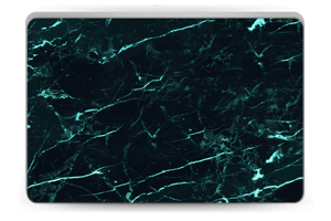 Grønn og svart marmor Skin Laptop 15.6