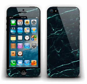Grønn og svart marmor Skin IPhone 5
