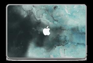 Dempede grågrønne farger Skin MacBook Pro 17