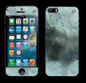 Dempede grågrønne farger Skin IPhone 5s