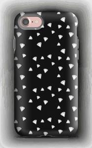 Weiße Diamanten auf schwarzem Grund Handyhülle IPhone 7 tough