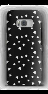 Weiße Diamanten auf schwarzem Grund Handyhülle Galaxy S8
