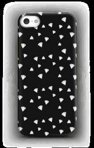 Zwart met witte diamanten hoesje IPhone SE
