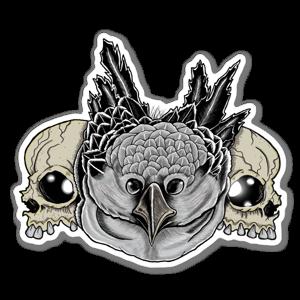 Skull Owl Aufkleber