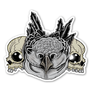 Crânes & Hibou  sticker