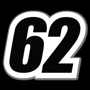 62 Aufkleber