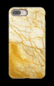 Kultainen marmori kuoret IPhone 8 Plus tough