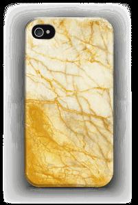 Kultainen marmori kuoret IPhone 4/4s