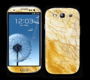 Golden rusty marble design