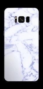 氷のようなブルーマーブル スキンシール Galaxy S8