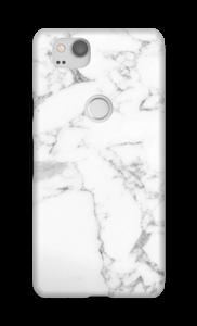 Simpel wit marmer hoesje Pixel 2