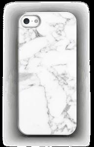 Simpel wit marmer hoesje IPhone SE